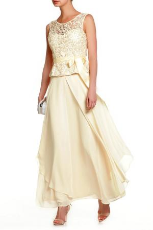 Платье Frank Lyman Design. Цвет: ванильный
