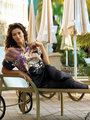 Комплект одежды Mia-Mia. Цвет: черный, голубой, сиреневый, фиолетовый, горчичный