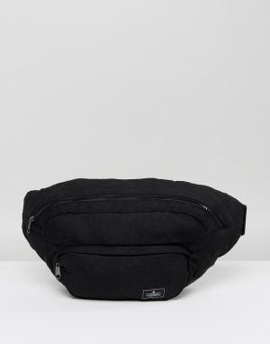 ASOS Большая сумка-кошелек на пояс с массивной застежкой-молнией. Цвет: черный