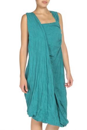 Универсальное яркое платье Oblique. Цвет: бирюзовый