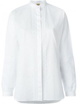 Рубашка с вышивкой Fay. Цвет: белый