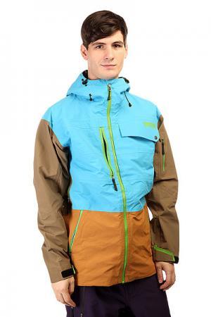 Куртка  Gear Pow Funk Blue Trew. Цвет: голубой,коричневый,серый