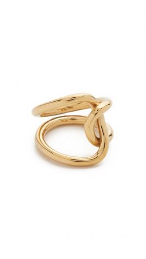 Кольцо Rylee Amber Sceats. Цвет: коричневый