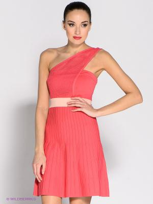 Платье Eunishop. Цвет: коралловый