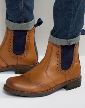 Front Ботинки-броги. Цвет: рыжий