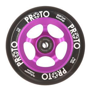 Колесо для самоката  110 Мм Slider Black On Purple Proto. Цвет: черный,фиолетовый