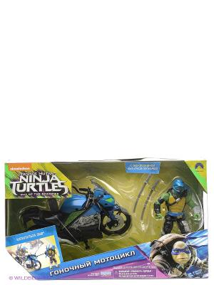 Мотоцикл с фигуркой Лео, серия Movie Line 2016 Playmates toys. Цвет: синий