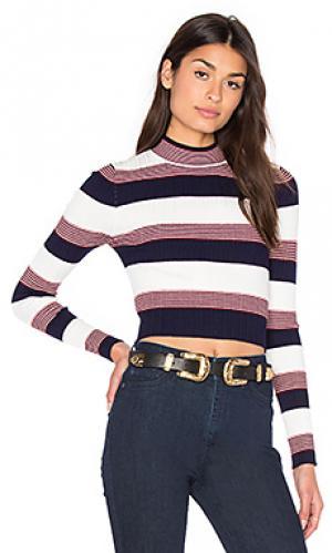 Укороченный свитер winona AGAIN. Цвет: синий