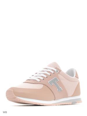 Кроссовки Tommy Hilfiger. Цвет: розовый