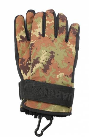 Утепленные перчатки с манжетами Dsquared2. Цвет: хаки