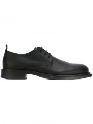 Туфли дерби с прямоугольным носком Ann Demeulemeester. Цвет: чёрный