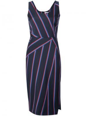 Полосатое платье Altuzarra. Цвет: синий