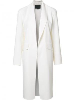 Пальто с воротником-шалька Alexander Wang. Цвет: белый
