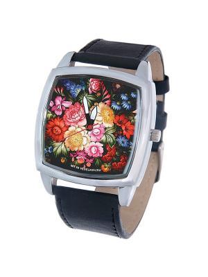 Часы Mitya Veselkov Жостово-1. Цвет: черный
