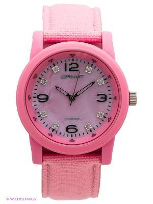 Часы Sprout. Цвет: розовый
