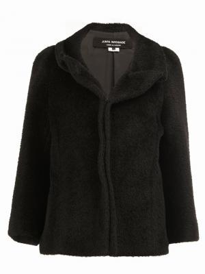 Приталенный пиджак с ворсистой отделкой Junya Watanabe Comme Des Garçons. Цвет: чёрный