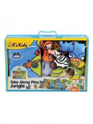 Джунгли зовут K'S Kids. Цвет: синий,зеленый,оранжевый
