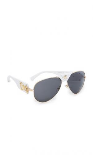 Солнцезащитные очки-авиаторы с изображением головы Медузы Versace