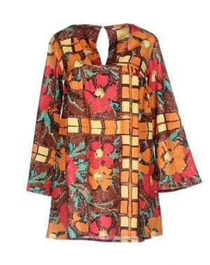 Короткое платье 100X200 CENTOXDUECENTO. Цвет: оранжевый
