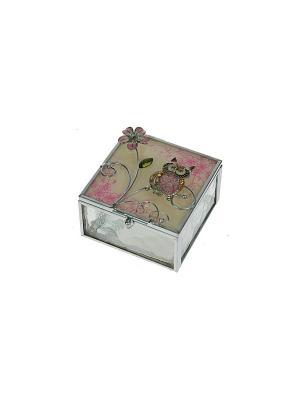 Шкатулка Фантазия Русские подарки. Цвет: серебристый