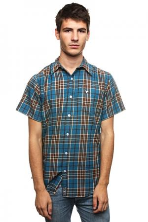 Рубашка в клетку  Richmond Button Up Bahama/Brown Fallen. Цвет: синий