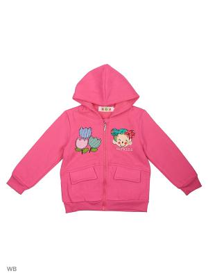 Куртка трикотажная с начёсом Kidly. Цвет: розовый