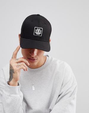 Element Черная кепка с логотипом. Цвет: черный