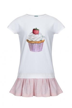 Хлопковое платье LISA&LEO. Цвет: multicolor