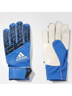 Вратарские перчатки Adidas. Цвет: синий