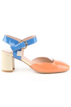 Босоножки Michele. Цвет: розово-голубой
