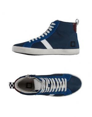 Высокие кеды и кроссовки D.A.T.E. KIDS. Цвет: грифельно-синий