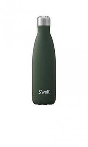 Бутылка для вода объёма 17 унций stone Swell S'well. Цвет: военный стиль