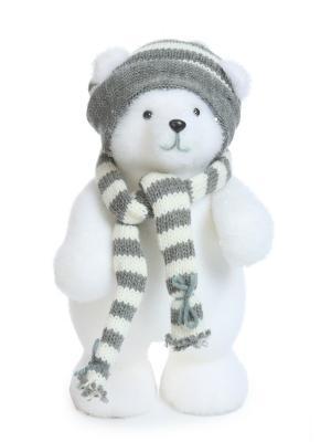 Кукла Мишка новогодний DAVANA. Цвет: белый