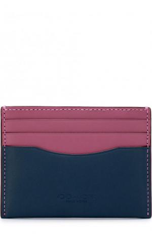 Кожаный футляр для кредитных карт Coach. Цвет: розовый