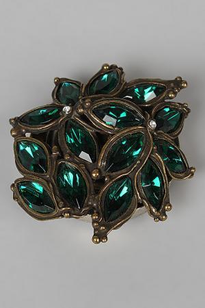 Держатель для сумки I Pavoni. Цвет: металл, камень темно-зеленый