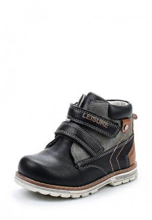Ботинки Лёва Солнечный. Цвет: черный