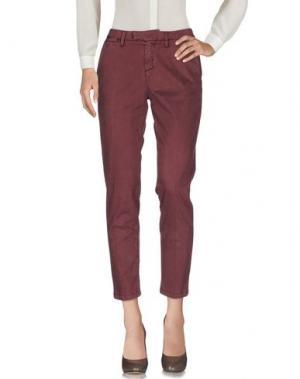 Повседневные брюки HAIKURE. Цвет: баклажанный