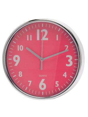 Часы настенные Серебристые цифры на розовом (20 см) NAST232 Mitya Veselkov. Цвет: розовый
