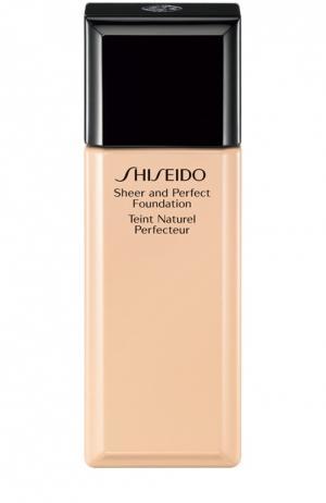 Тональное средство с полупрозрачной текстурой, оттенок B40 Shiseido. Цвет: бесцветный