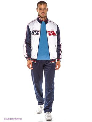 Спортивный костюм ADDIC. Цвет: белый, темно-синий