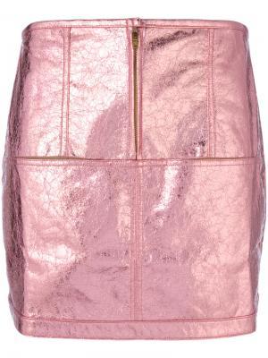 Luna metallic skirt For Love And Lemons. Цвет: розовый и фиолетовый