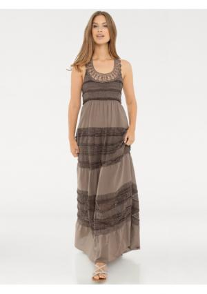 Платье B.C. BEST CONNECTIONS by Heine. Цвет: белый, серо-коричневый