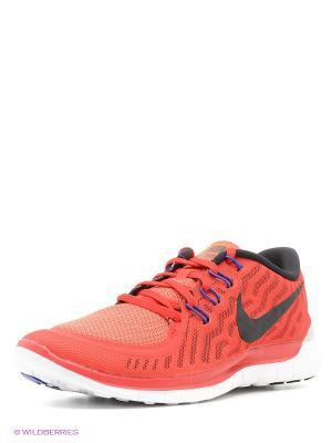 Кроссовки Nike Free 5.0. Цвет: красный
