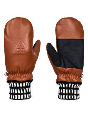 Варежки DC Shoes. Цвет: коричневый, темно-бежевый