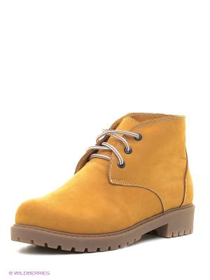 Ботинки Spur. Цвет: желтый