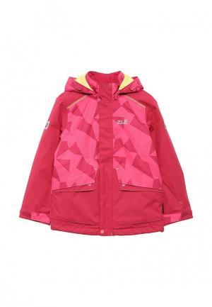 Куртка горнолыжная Jack Wolfskin. Цвет: розовый
