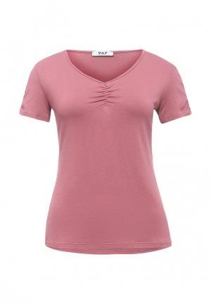 Футболка Vay. Цвет: розовый