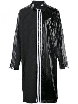Пальто с панельным дизайном Adidas Originals By Alexander Wang. Цвет: чёрный