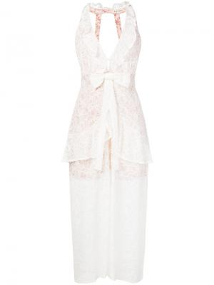 Sweet Disposition maxi dress For Love And Lemons. Цвет: белый