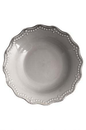 Тарелки суповые 21 см 6 шт. H&H. Цвет: серый